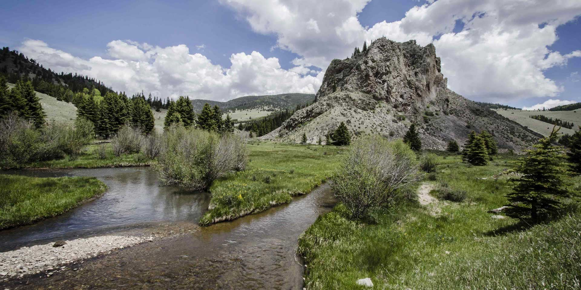 Valle Vidal stream and butte