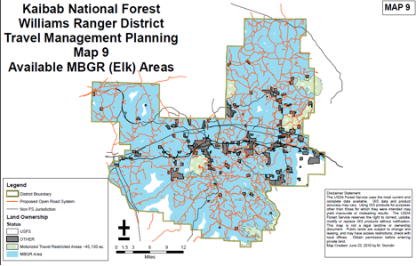 kaibab national forest travel management plan